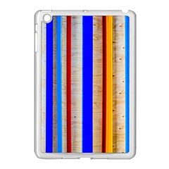 Colorful Wood And Metal Pattern Apple Ipad Mini Case (white) by FunnyCow