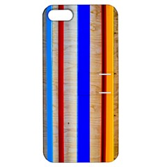 Colorful Wood And Metal Pattern Apple Iphone 5 Hardshell Case With Stand by FunnyCow