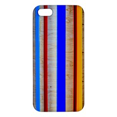 Colorful Wood And Metal Pattern Apple Iphone 5 Premium Hardshell Case by FunnyCow