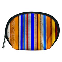 Colorful Wood And Metal Pattern Accessory Pouches (medium)