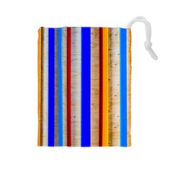Colorful Wood And Metal Pattern Drawstring Pouches (large)
