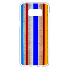 Colorful Wood And Metal Pattern Samsung Galaxy S8 Plus White Seamless Case