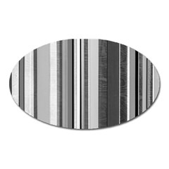 Shades Of Grey Wood And Metal Oval Magnet