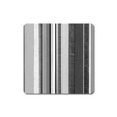 Shades Of Grey Wood And Metal Square Magnet