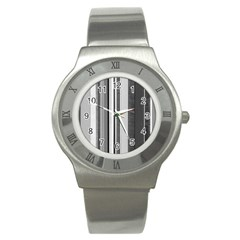 Shades Of Grey Wood And Metal Stainless Steel Watch by FunnyCow