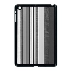 Shades Of Grey Wood And Metal Apple Ipad Mini Case (black) by FunnyCow