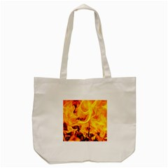 Fire And Flames Tote Bag (cream)