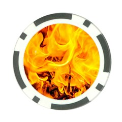 Fire And Flames Poker Chip Card Guard