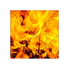 Fire And Flames Acrylic Tangram Puzzle (4  X 4 )