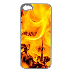 Fire And Flames Apple Iphone 5 Case (silver)