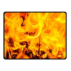 Fire And Flames Double Sided Fleece Blanket (small)