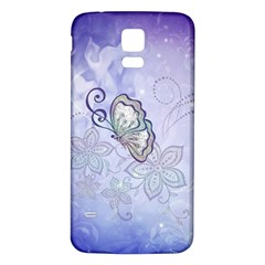 Wonderful Butterlies With Flowers Samsung Galaxy S5 Back Case (white)