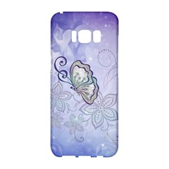 Wonderful Butterlies With Flowers Samsung Galaxy S8 Hardshell Case