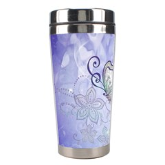 Wonderful Butterlies With Flowers Stainless Steel Travel Tumblers by FantasyWorld7