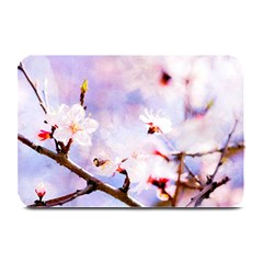 Pink Sakura Purple Background Plate Mats