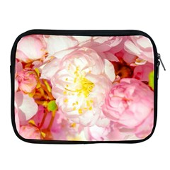 Pink Flowering Almond Flowers Apple Ipad 2/3/4 Zipper Cases by FunnyCow
