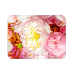 Pink Flowering Almond Flowers Double Sided Flano Blanket (mini)