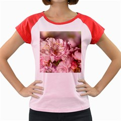 Beautiful Flowering Almond Women s Cap Sleeve T Shirt