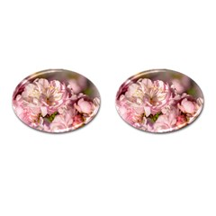 Beautiful Flowering Almond Cufflinks (oval) by FunnyCow