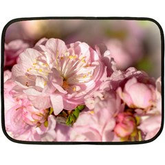 Beautiful Flowering Almond Double Sided Fleece Blanket (mini)  by FunnyCow