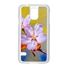 Sakura Flowers On Yellow Samsung Galaxy S5 Case (white) by FunnyCow