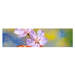 Sakura Flowers On Yellow Satin Scarf (oblong)