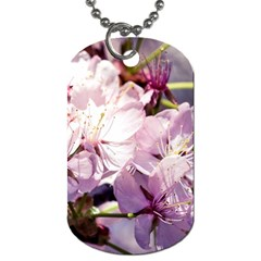 Sakura In The Shade Dog Tag (one Side) by FunnyCow