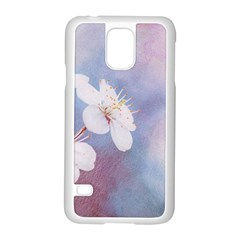 Pink Mist Of Sakura Samsung Galaxy S5 Case (white) by FunnyCow