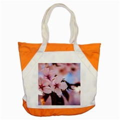 Three Sakura Flowers Accent Tote Bag