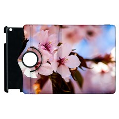 Three Sakura Flowers Apple Ipad 2 Flip 360 Case by FunnyCow