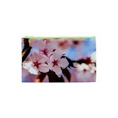 Three Sakura Flowers Cosmetic Bag (xs) by FunnyCow