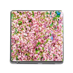 Almond Tree In Bloom Memory Card Reader (square 5 Slot)