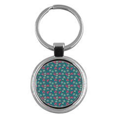 Teal Hats Key Chains (round)