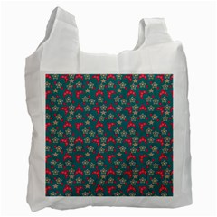 Teal Hats Recycle Bag (one Side)
