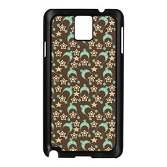 Brown With Blue Hats Samsung Galaxy Note 3 N9005 Case (black)