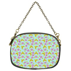 Blue Star Yellow Hats Chain Purses (two Sides)