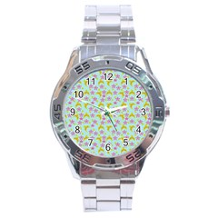 Blue Star Yellow Hats Stainless Steel Analogue Watch