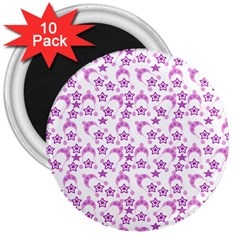 Violet Winter Hats 3  Magnets (10 Pack)