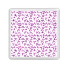 Violet Winter Hats Memory Card Reader (square)