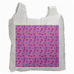 Pink Star Blue Hats Recycle Bag (one Side) by snowwhitegirl