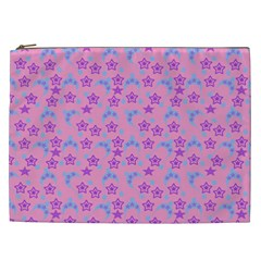 Pink Star Blue Hats Cosmetic Bag (xxl)