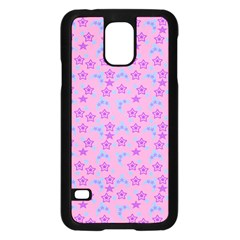 Pink Star Blue Hats Samsung Galaxy S5 Case (black)