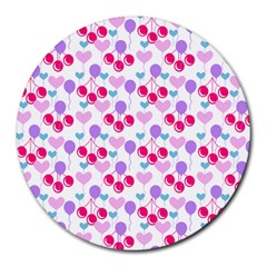Pastel Cherries Round Mousepads