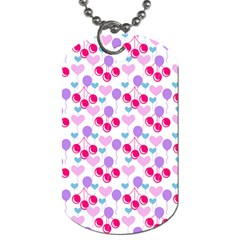 Pastel Cherries Dog Tag (two Sides)