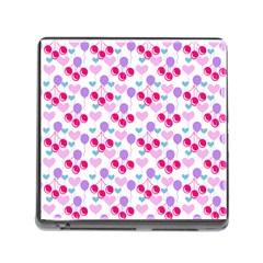 Pastel Cherries Memory Card Reader (square 5 Slot)