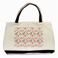 Bubblegum Cherry White Basic Tote Bag
