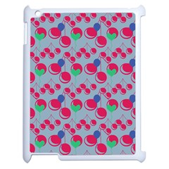 Bubblegum Cherry Blue Apple Ipad 2 Case (white) by snowwhitegirl
