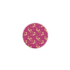 Yellow Pink Cherries 1  Mini Buttons