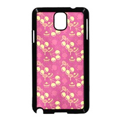 Yellow Pink Cherries Samsung Galaxy Note 3 Neo Hardshell Case (black)