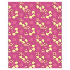Yellow Pink Cherries Drawstring Bag (small)